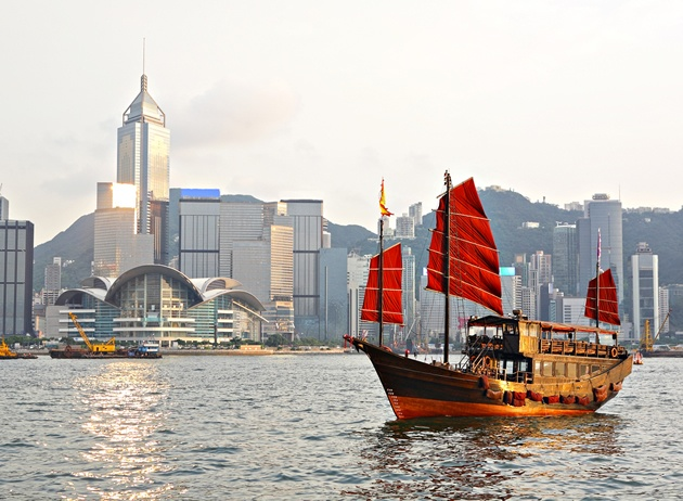 The traditional sailing junks in the harbour is one of the iconic sights of Hong Kong. Though they've been sailing since the 2nd century AD, the vessels you'll see in the harbour now are mostly for tourists. Jump on one to get a great harbour view.