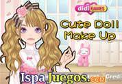 Juego de Cute Doll Makeup | JUEGOS GRATIS: Dale el mejor maquillaje a esta hermosa chica y hazla lucir como una dulce y tierna muñequita, debes de combinar todos los colores para que luzca genial, tambien debes de vestirla de forma que quede con mucho estilo.