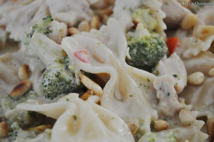 pasta met witte saus recept