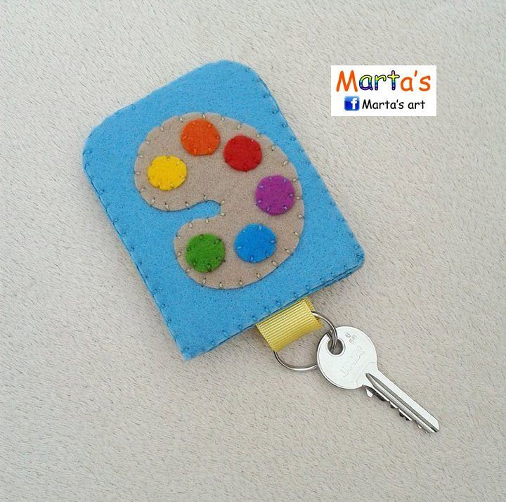 felt key ring pouch