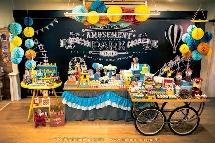 Main Display from a Vintage Carnival + Amusement Park Party via Kara's Party Ideas | KarasPartyIdeas.com (2)