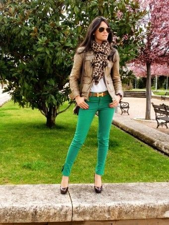 Street Style Cute Women's Clothing for St. Patrick's Day - St. Patrick's Day Outfit, Green Trousers - Summer on Street by skytoniaferreira