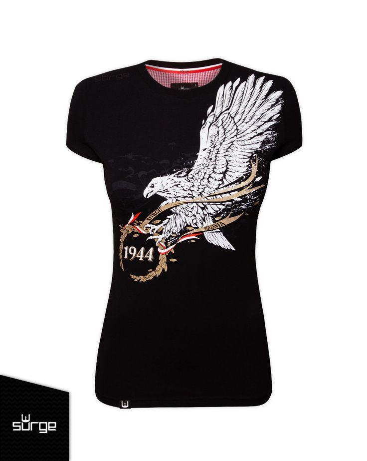 Koszulka patriotyczna Odznaka Spadochronowa damska | DLA KOBIET | Sklep z koszulkami Polski i odzieżą patriotyczną ● Przepnij Pina! Pomóż nam promować ideę nowoczesnego patriotyzmu. SurgePolonia