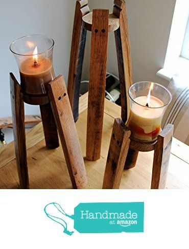 Recycled Oak whisky barrels as Candle holders.