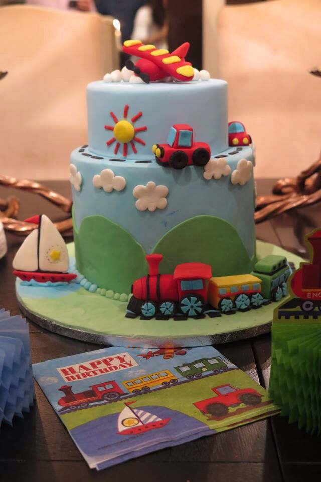 Transport theme cake
