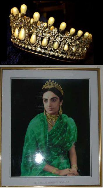 The Patiala Lovers Knot Tiara. Worn by Maharani Mahindar Kaur of Patiala, the second wife of Maharajah Yadavindra Singh of Patiala (1913-1974), who was the last Maharajah of Patiala, when the state joined the Indian Republic in 1948.
