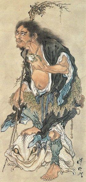GAMA SENNIN WITH TOAD | Gama-Sennin (Toad Hermit)