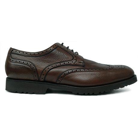 Zapato blucher con pala vega en marrón de Calce vista lateral