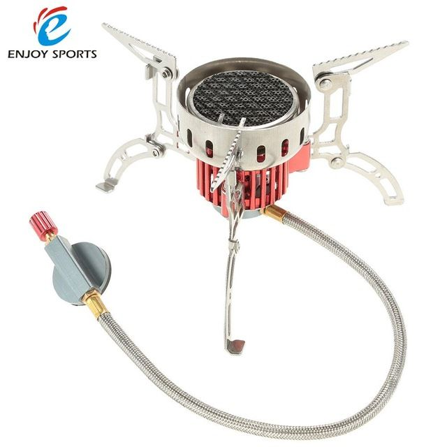 1X portable gas stove furnace split burner outdoor camp hiking picnic cookout FO