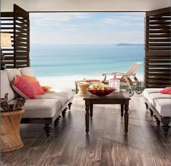 i wanna be there right now..Beach Home, Beach Living, Living Room, Coastal Living, Beach House Interiors, Floors Options, Ocean View, Laminate Floors, Tropical Beach