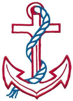 three embroidery Outline | Outlines Embroidery Design: Anchor Outline from Dakota Collectibles