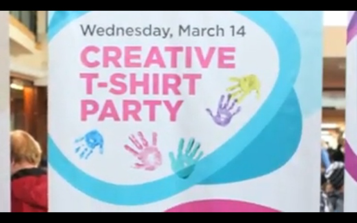 Day 3 of #March Break Fun Camp - Creative T-Shirt Party!  Tell us if you see you or your family in the video: http://on.fb.me/xShAKq