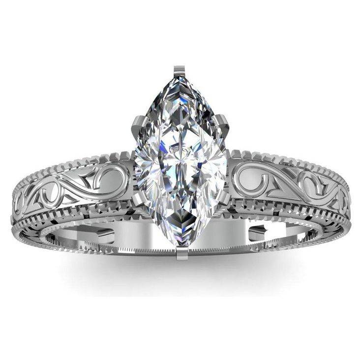 Cute Marquise Engagement Ring Antique With Sapphires