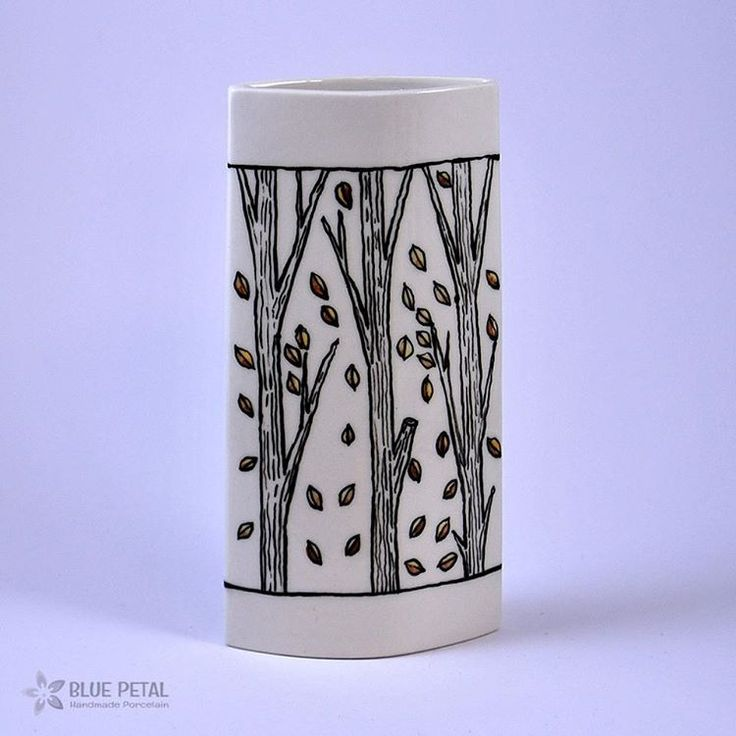Welcome May into your home with this Forrest pattern vase! How lovely does it look? Order yours from #bluepetal here:  http://bluepetal.ro/vaza-the-forrest_54717 #sellonlinewithsoldigo #makealivingdoingwhatyoulove #turnyourhobbyintoacareer #beyourownboss #vase #decorateyourhome
