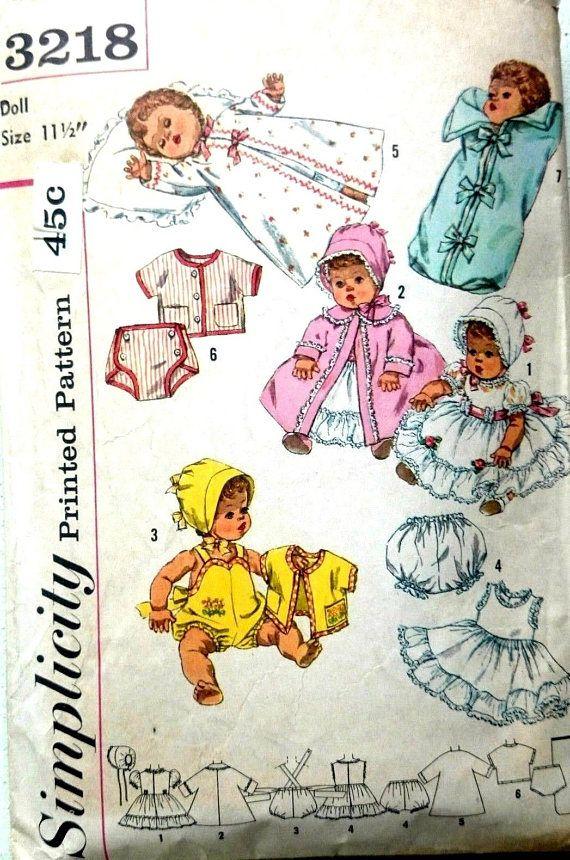 18 best Vintage Toy Sewing Patterns images on Pinterest | Vintage ...