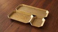 Gold trays 文具トレイ