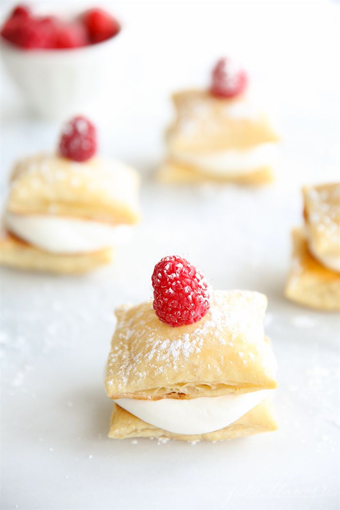 easy cream puffs in 10 minutes make for the perfect Valentine's Day treat