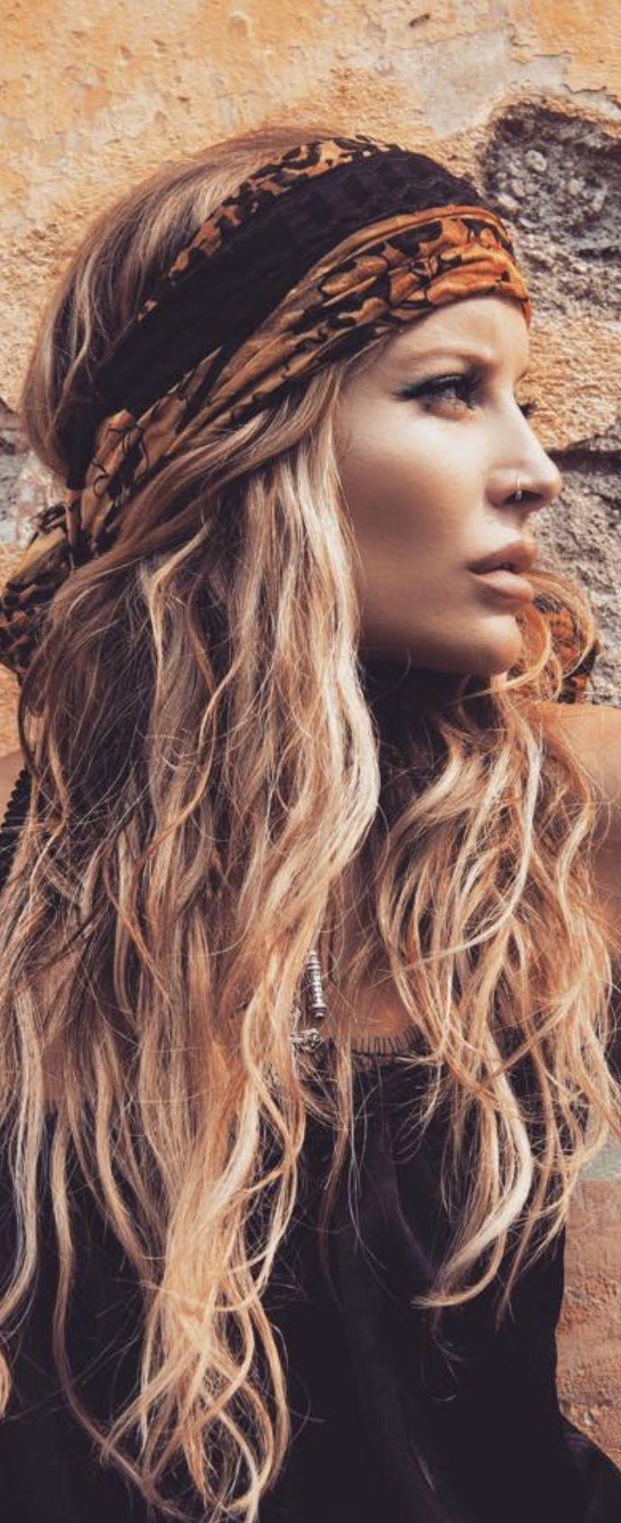Bohmisches Haar Hippie Frisur Frisuren Hippie Kostum