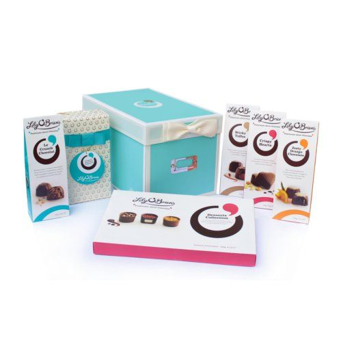 Chocolate Shoe Box Hamper, 6 Collections, 843g - Free Delivery Irl & UK