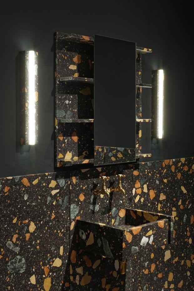 Um banheiro feito de mármore sintético (Foto: divulgação)