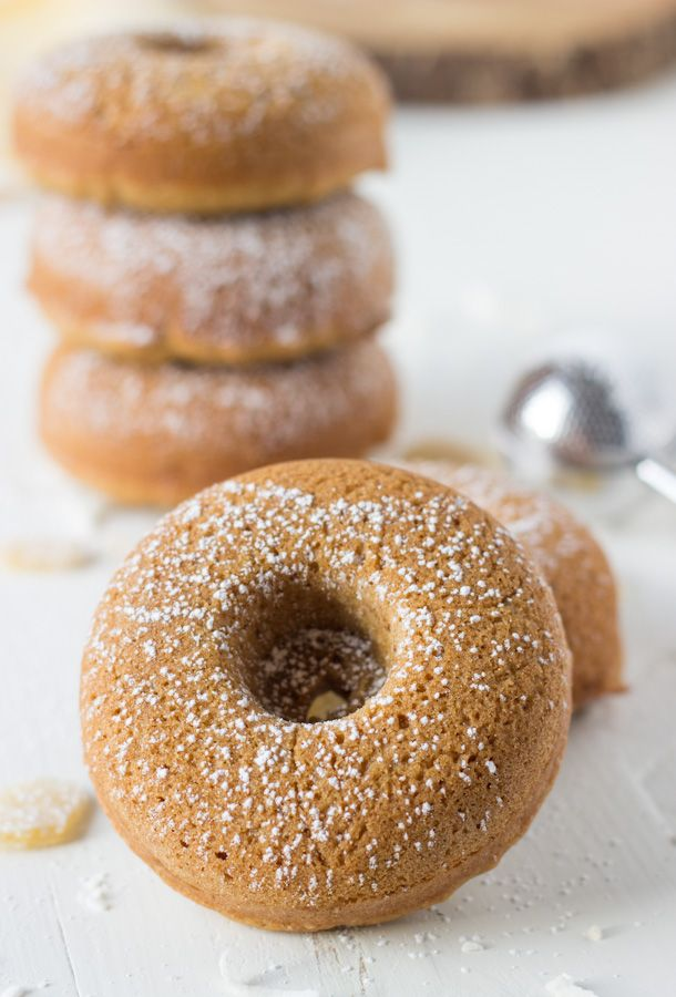Coconut Ginger Baked Donuts - soft, slightly sweet and healthier donuts!
