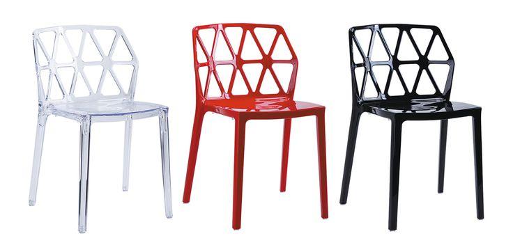 Dalmatinern plaststol. Polykarbonat, stol, plast, röd, vit, svart, kök, köksstol, matsalsstol. http://sweef.se/stolar/95-dalmatinern-stol-i-polykarbonat.html