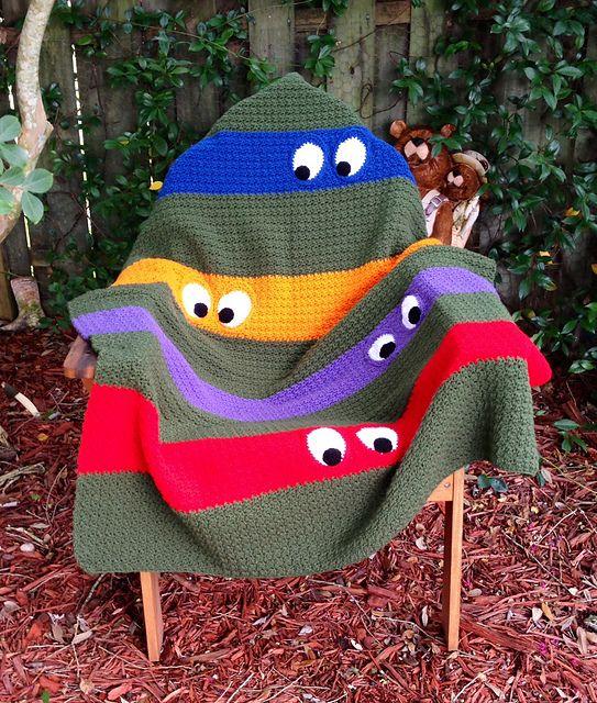 Ravelry: kathy862's Teenage Mutant Ninja Turtle Blanket