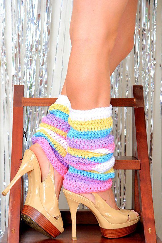 Arc-en-ciel pastel jambières Leggings par mademoisellemermaid …