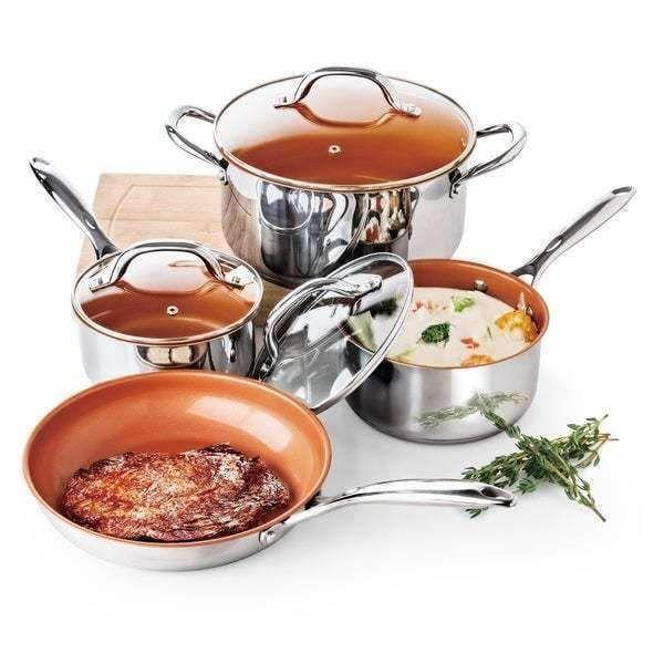 Amazon Com Culinary Edge 12 Inch Ceramic Copper Pro Pan Kitchen Dining