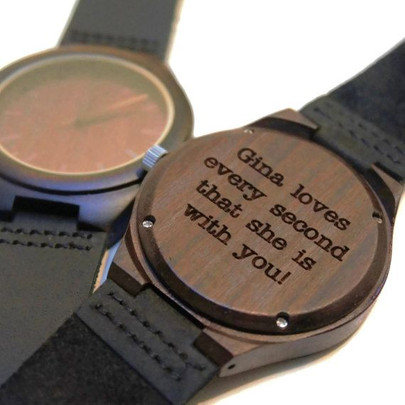 Wooden Watch / black sandal wood Wristwatch  by CreativeUseofTech