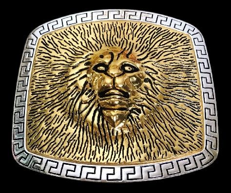 Lion Head Roman Fountain King Of The Jungle Africa Lions Belt Buckle Buckles #lion #lionhead #lionheadbuckle #lionheadbeltbuckle #animal #animalbeltbuckle #animalbuckle #beltbuckle #coolbuckles @coolbuckles