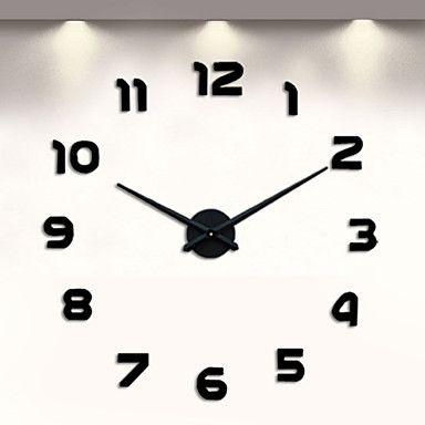 Moderno/Contemporaneo Altro Orologio da parete,Altro Metallo 18.5 x 18.5 x 6(7.28