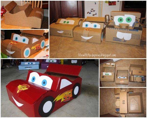 30 Best Images About Cardboard Box Cars On Pinterest