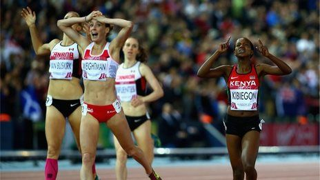 Laura Weightman snatches silver in the 2014 Commonwealth Games 1500m as Faith Kibiegon of Kenya takes the gold.