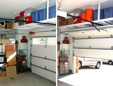 90 best images about garage space on pinterest garage for Maximize garage storage