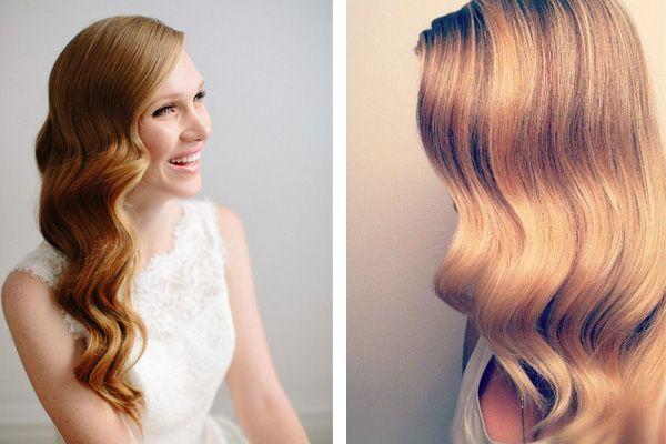 Peinado novia pelo suelto vintage