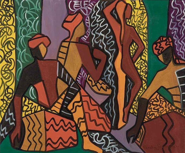 Acrylic on canvas by Senaka Senanayake, 1968.
