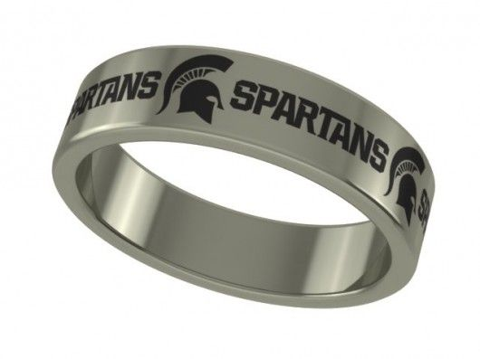 There is no debate that these bands are the highest quality stainless steel collegiate rings available. We combine solid stainless steel with our state of the art laser engraving method of logo application to provide a great looking ring that will never wear out! Show your spirit in style with this cutting edge stainless steel band. Strong enough to wear everyday. This is a custom made ring so there are no returns unless we make the wrong size from what was ordered.   #michigan #state…