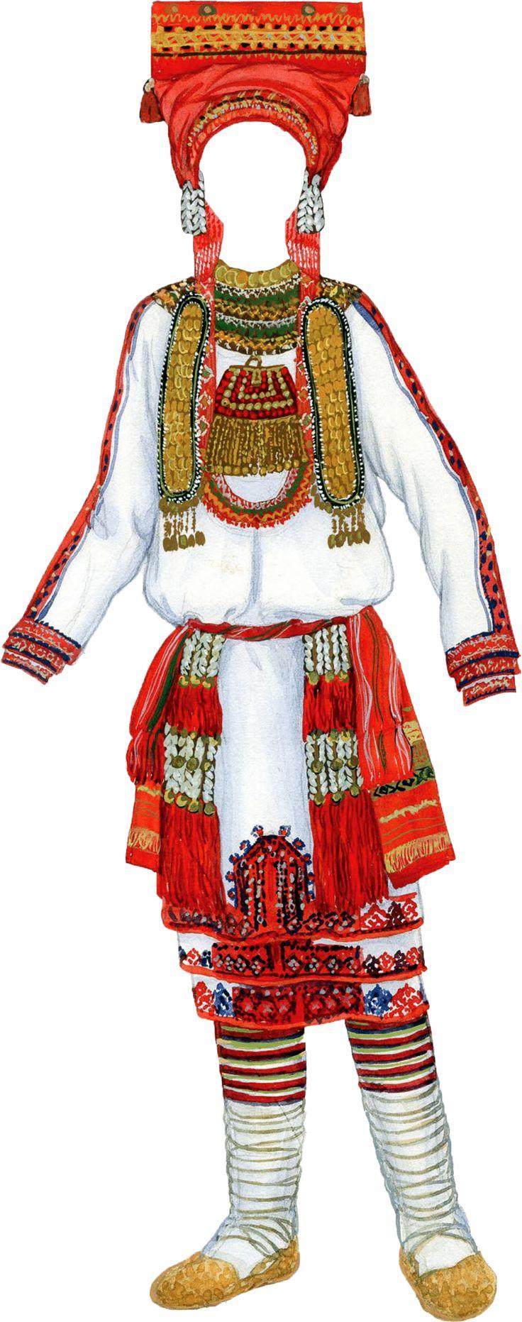 Картинка мордовского костюма