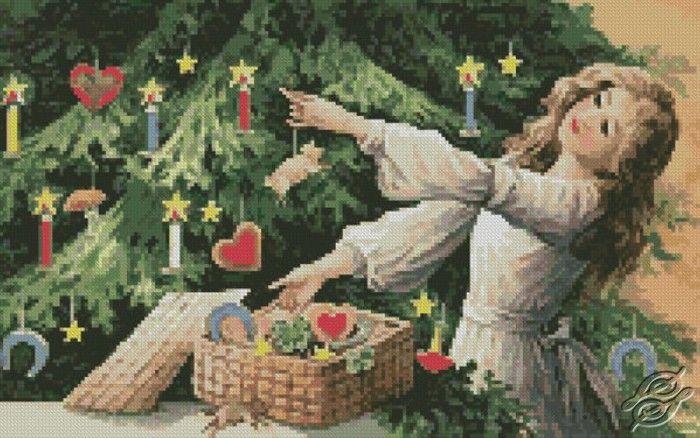 Decorating Tree - Free Cross Stitch Pattern