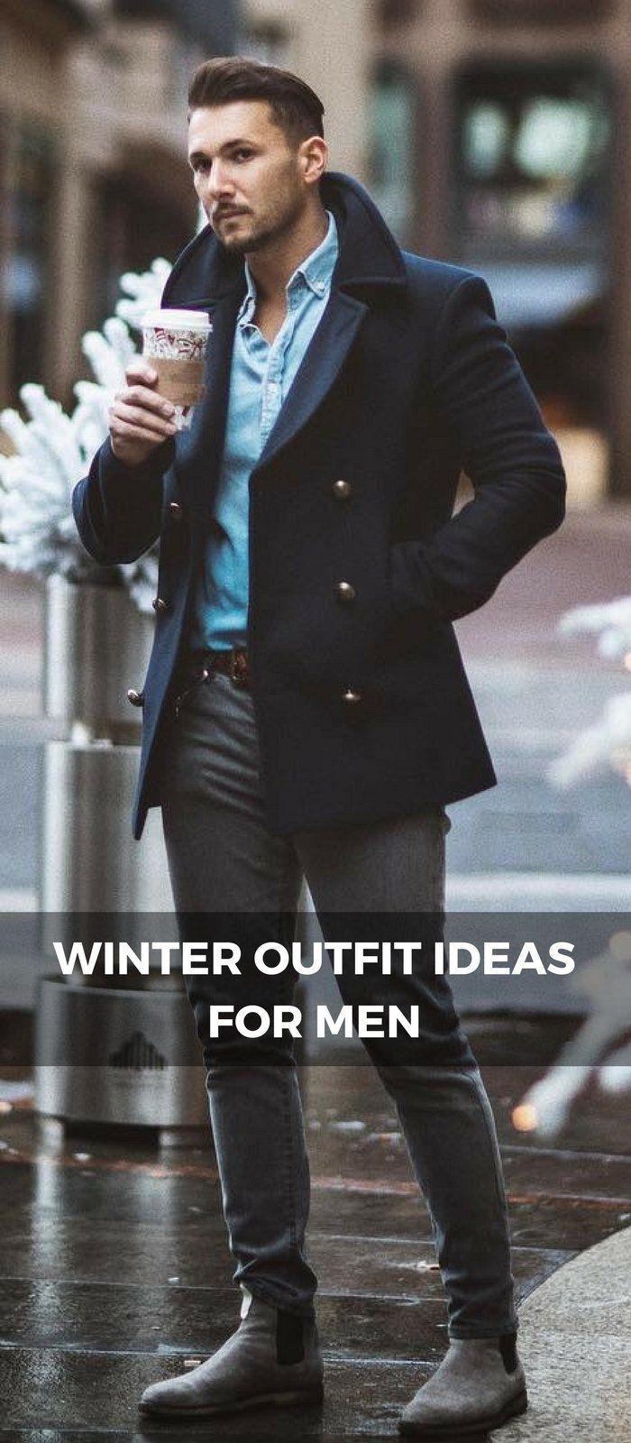Winter outfit ideas for men #FashionableMensJackets
