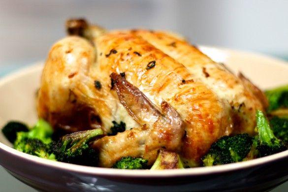 hel ugnsrostad kyckling med ramslök - RECEPT | Uplifting