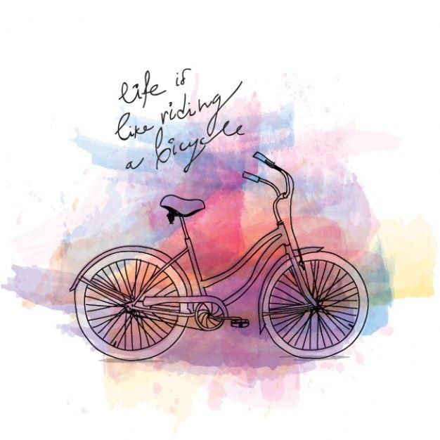 (。☌ᴗ☌。)                                                Riding a bike, Vintage postcard