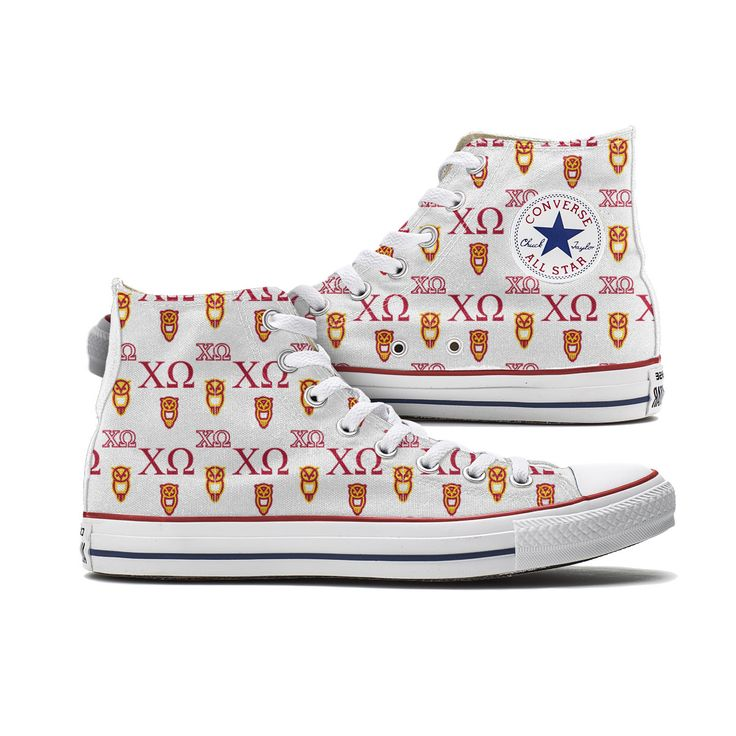 Chi O Converse High Top Chuck Taylor All Stars Pattern