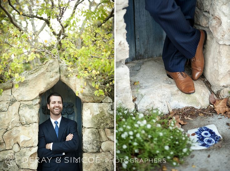 Vintage inspired wedding. Blue suit and brown shoes. Old school cool groom