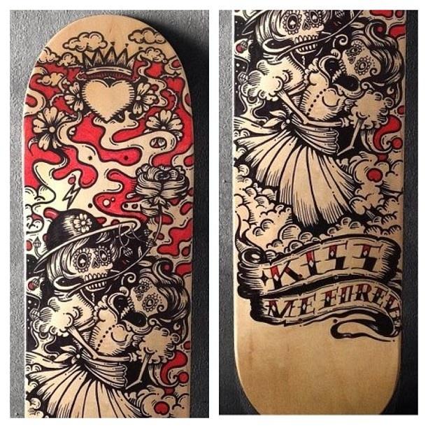 skateboard handmade by kartess