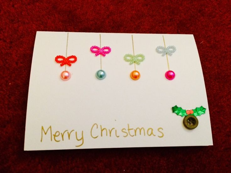 First Homemade Christmas Card (2014)