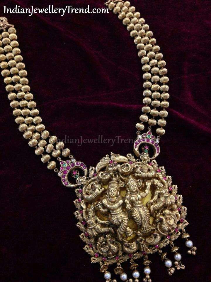 Radha Krishna Nakshi Haar make with a theme of Heritage
