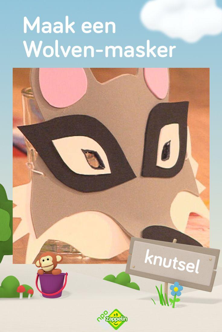 Knutselen Maak Je Eigen Wolven Masker Knutselen Voor Kinderen Kleurplaten Voor Kinderen