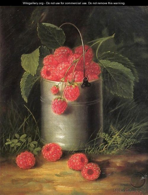 A Pail of Raspberries, by George Forster, 1871 - oil on canvas. Private collection.